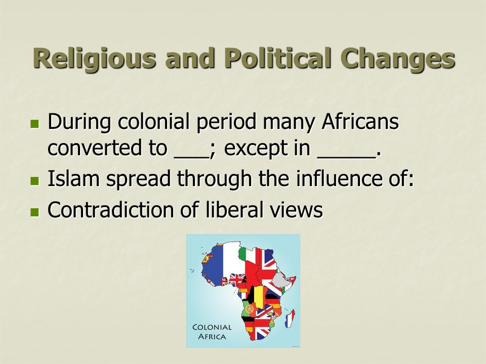 Religious and Political Changes