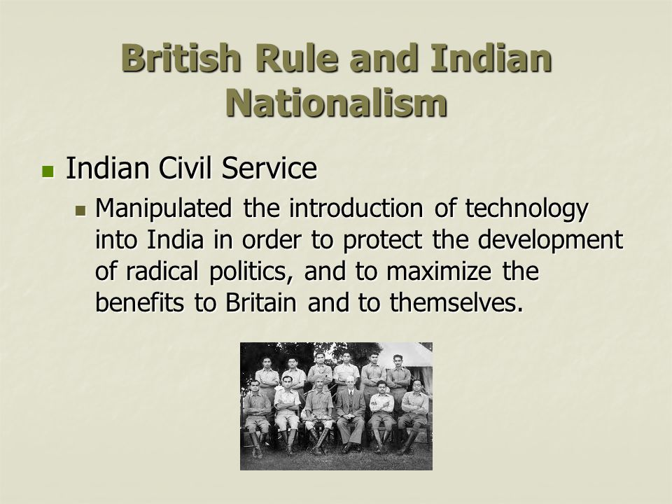 British Rule and Indian Nationalism