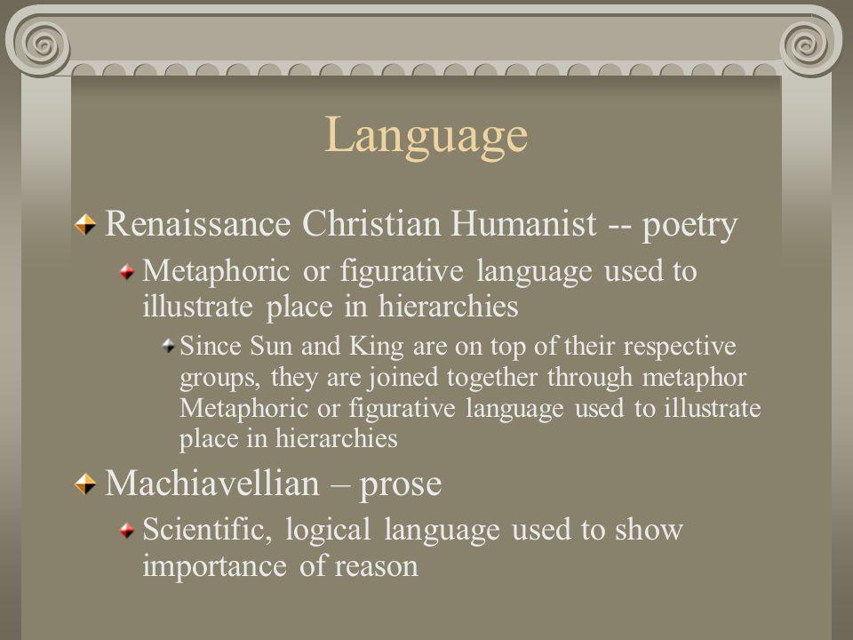Language Renaissance Christian Humanist -- poetry