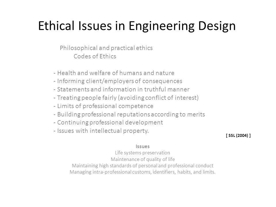 Ethical Issues in Engineering Design