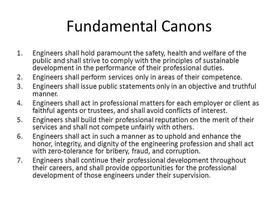 Fundamental Canons