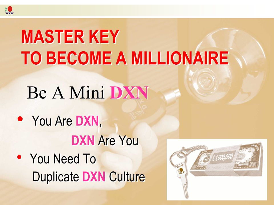 MASTER KEY TO BECOME A MILLIONAIRE