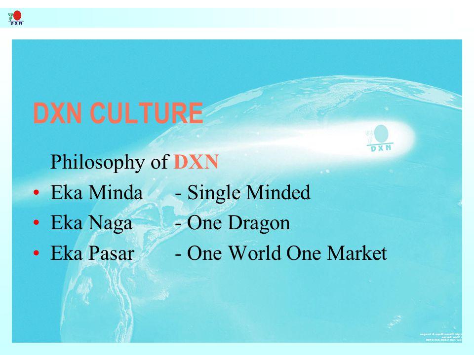 DXN CULTURE Philosophy of DXN Eka Minda - Single Minded
