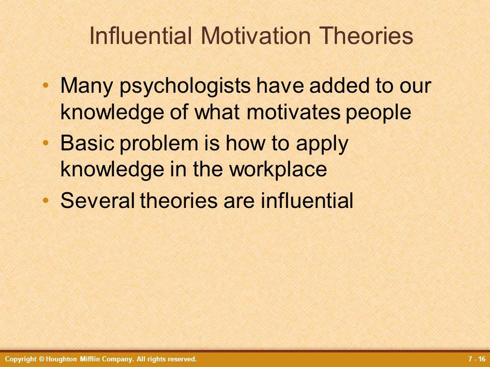 Influential Motivation Theories