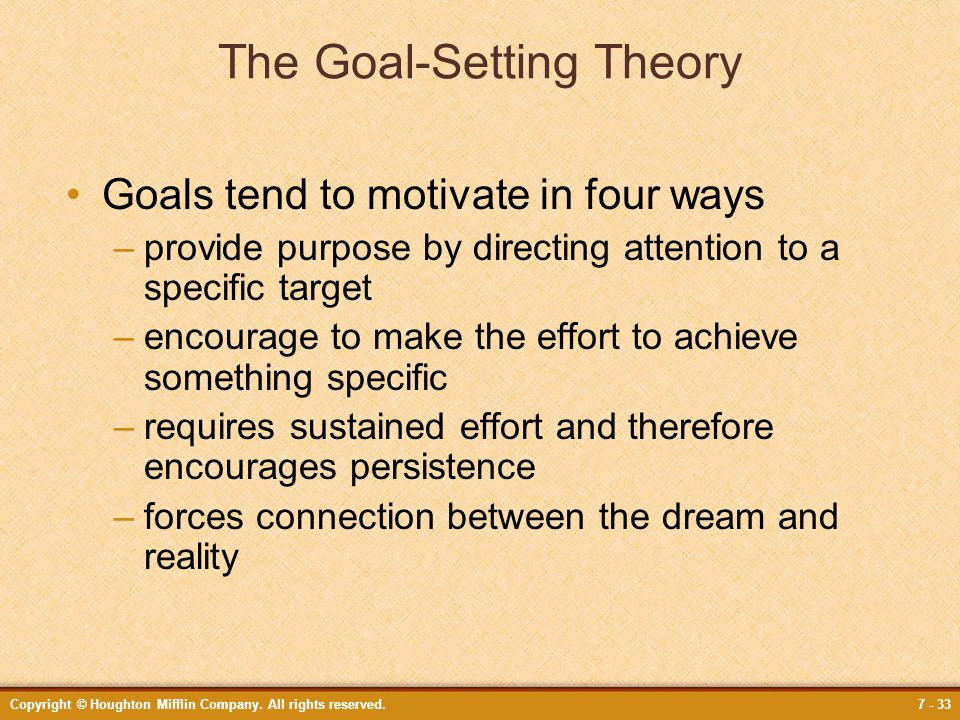 The Goal-Setting Theory