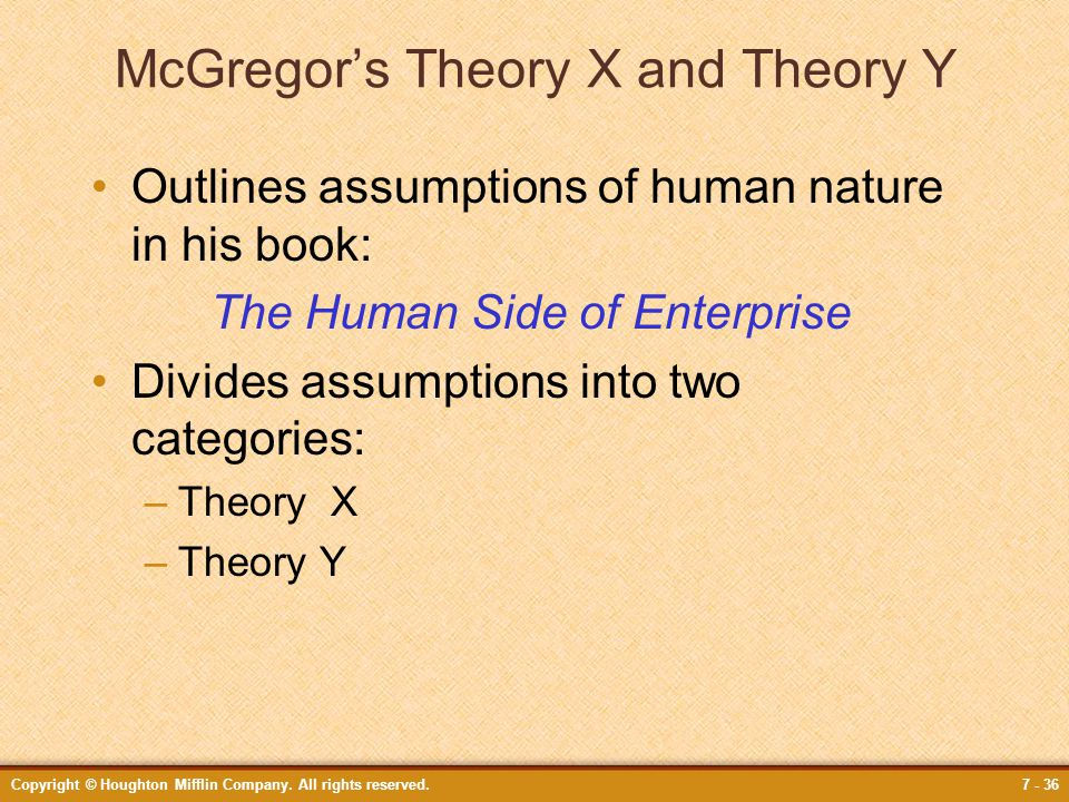 McGregor's Theory X and Theory Y