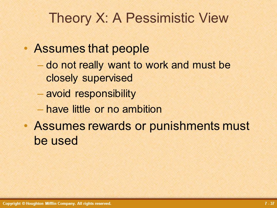 Theory X: A Pessimistic View
