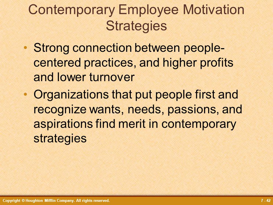 Contemporary Employee Motivation Strategies