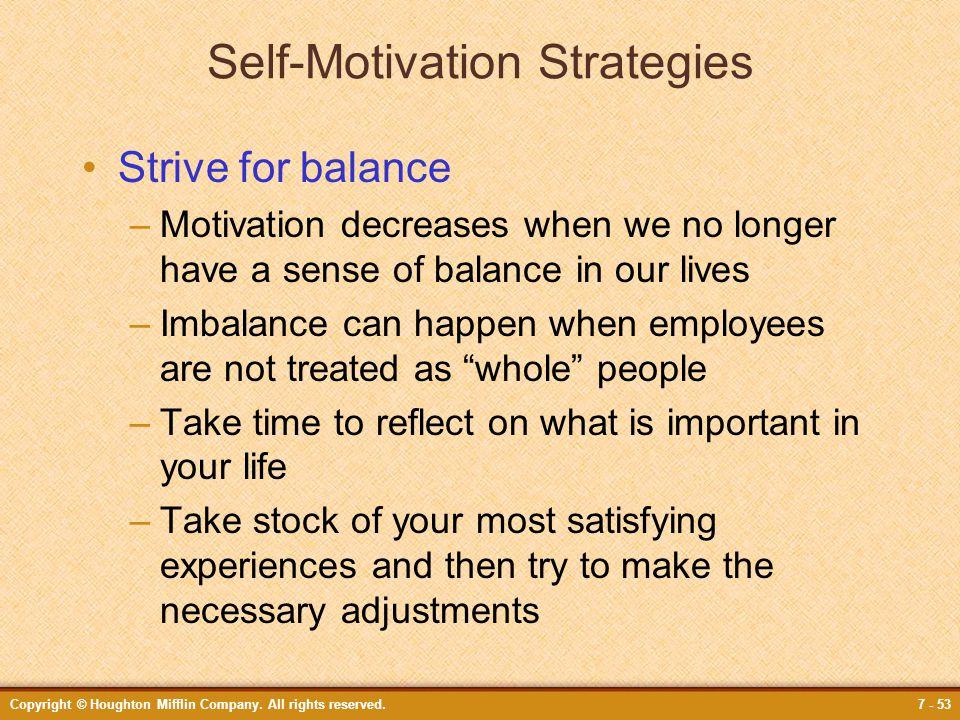 Self-Motivation Strategies