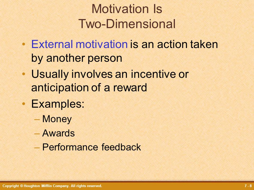 Motivation Is Two-Dimensional