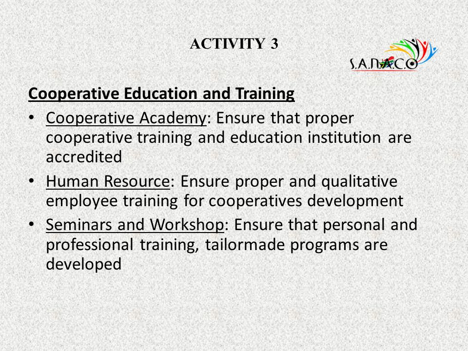 Cooperative Education and Training