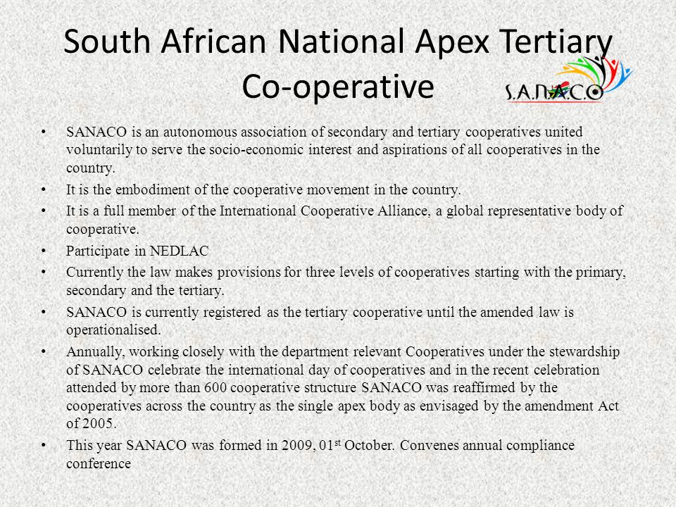 South African National Apex Tertiary Co-operative