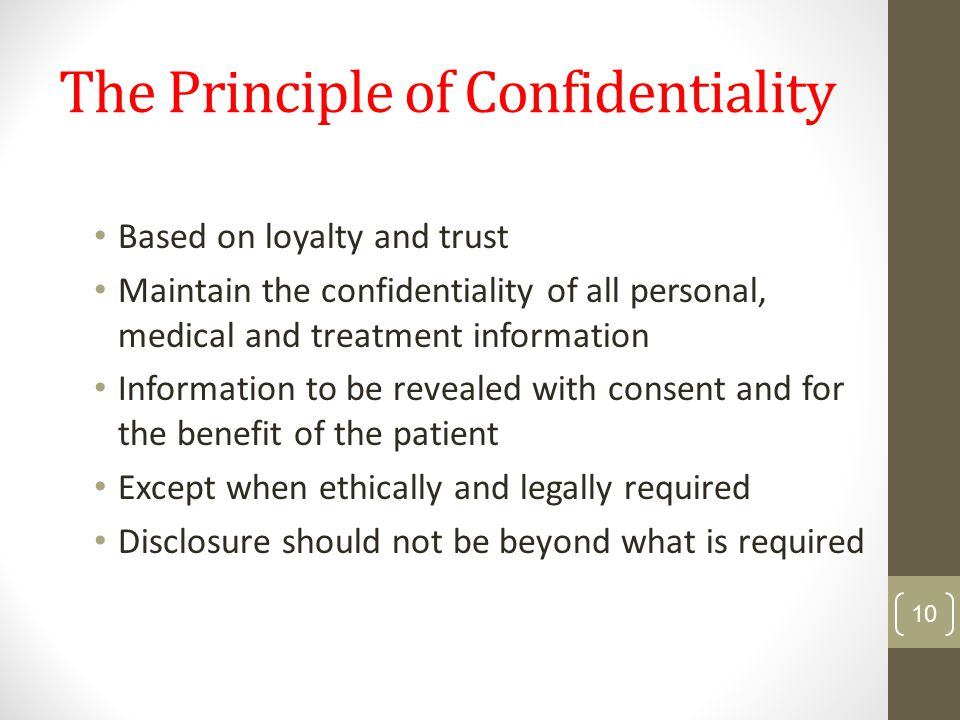 describe the principles and boundaries of confidentiality 16 information sharing and confidentiality: contents introduction working together 2015 further consent should be sought from other third parties unless the overriding principles apply and that information shared is relevant and proportionate.