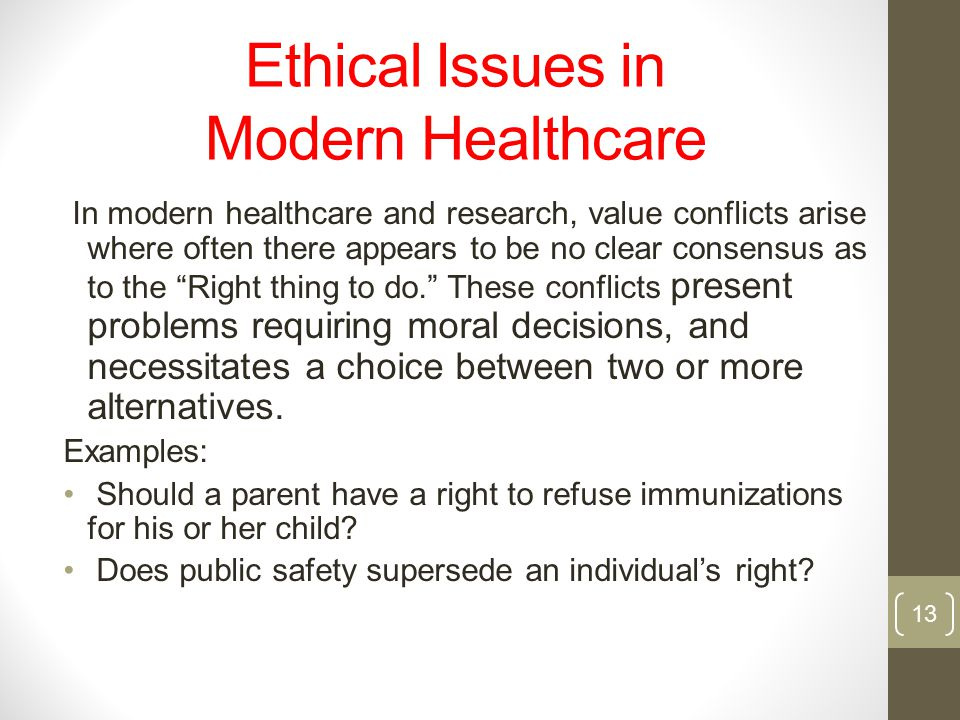 Ethical Issues in Modern Healthcare