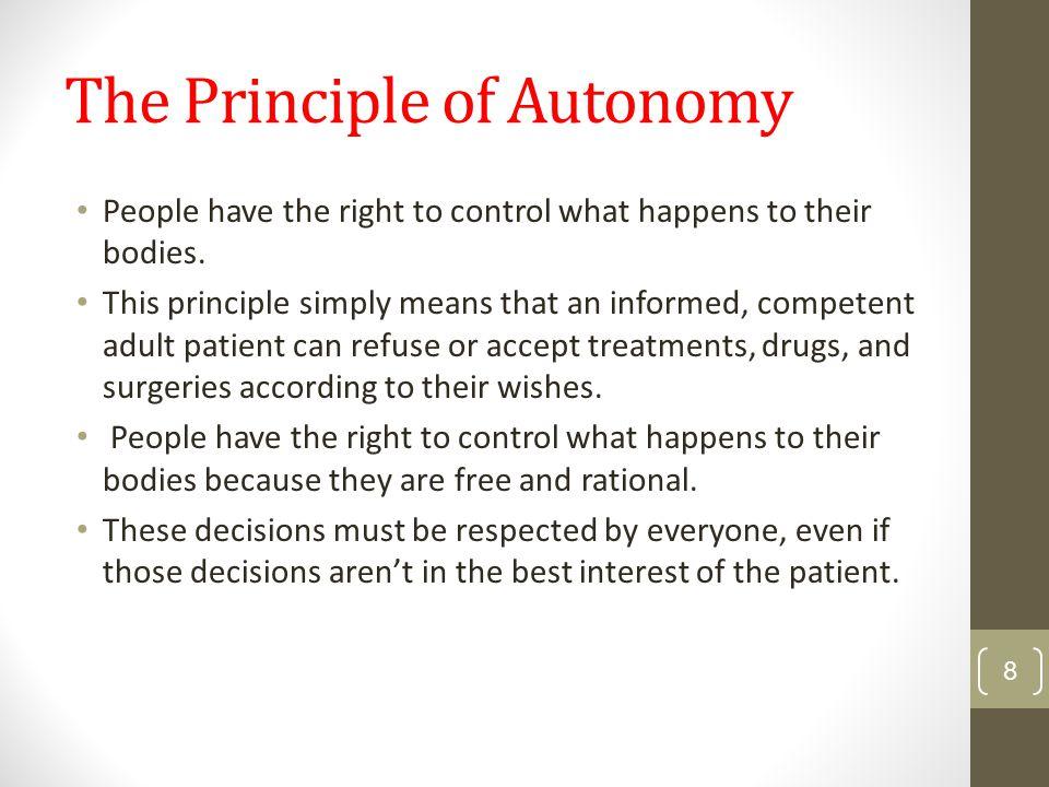 The Principle of Autonomy