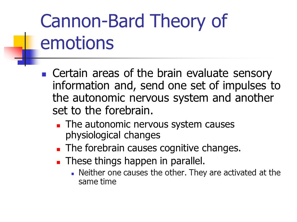 Cannon-Bard Theory of emotions