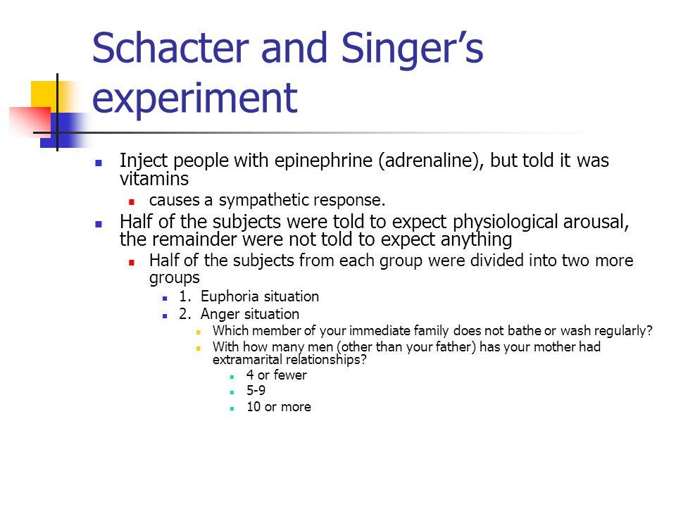 Schacter and Singer's experiment