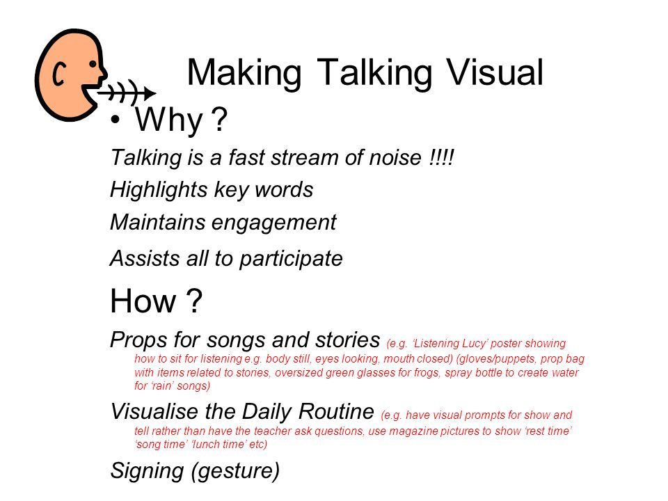 Making Talking Visual Why How