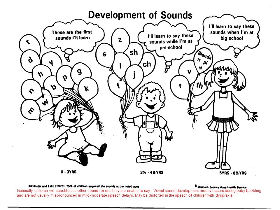 Generally children will substitute another sound for one they are unable to say.