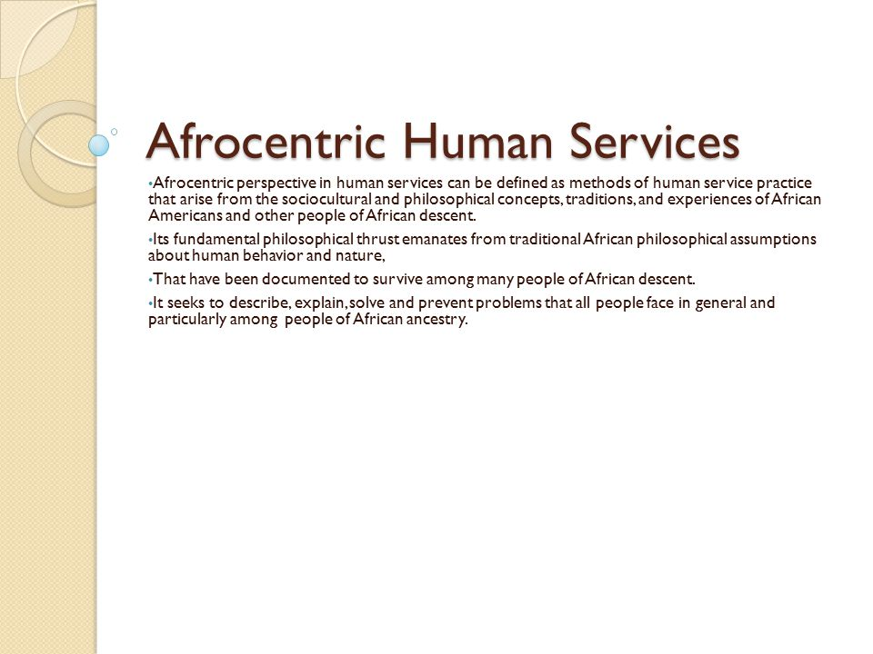 Afrocentric Human Services