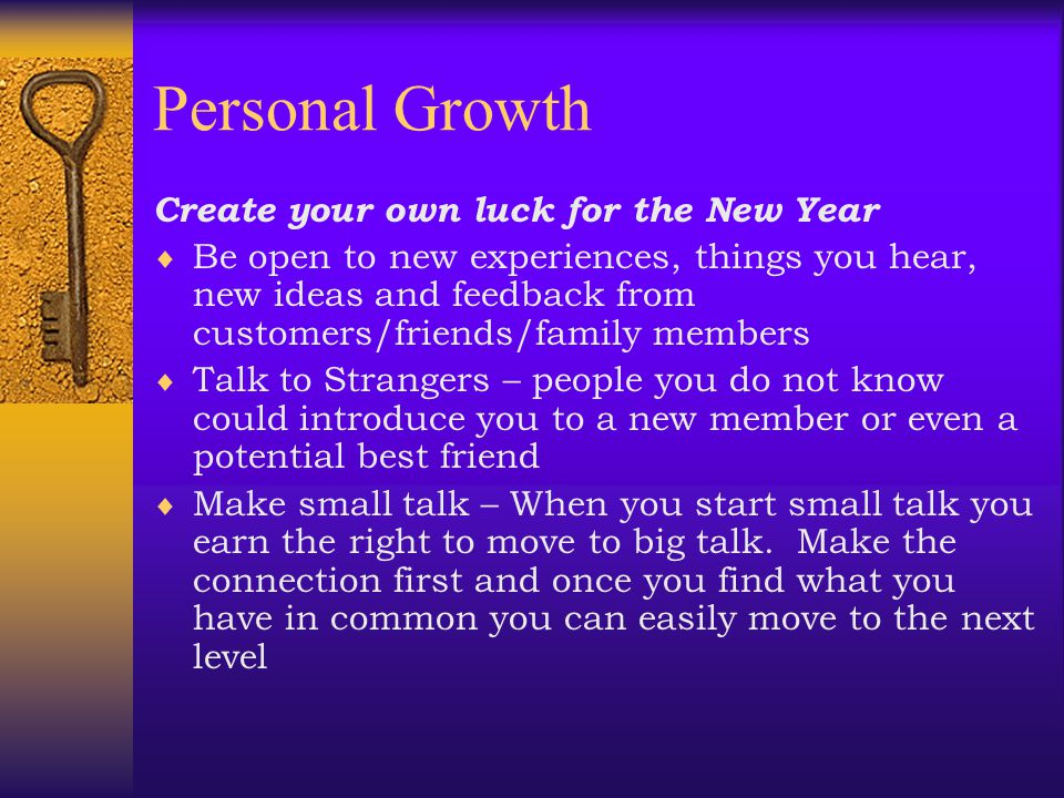 Personal Growth Create your own luck for the New Year