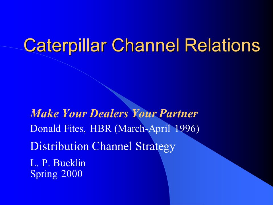 Caterpillar Channel Relations