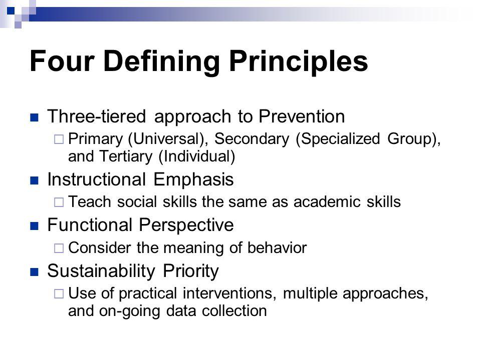 Four Defining Principles