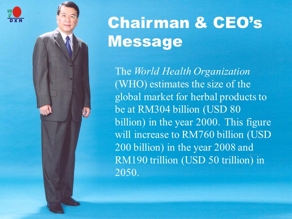 Chairman & CEO's Message