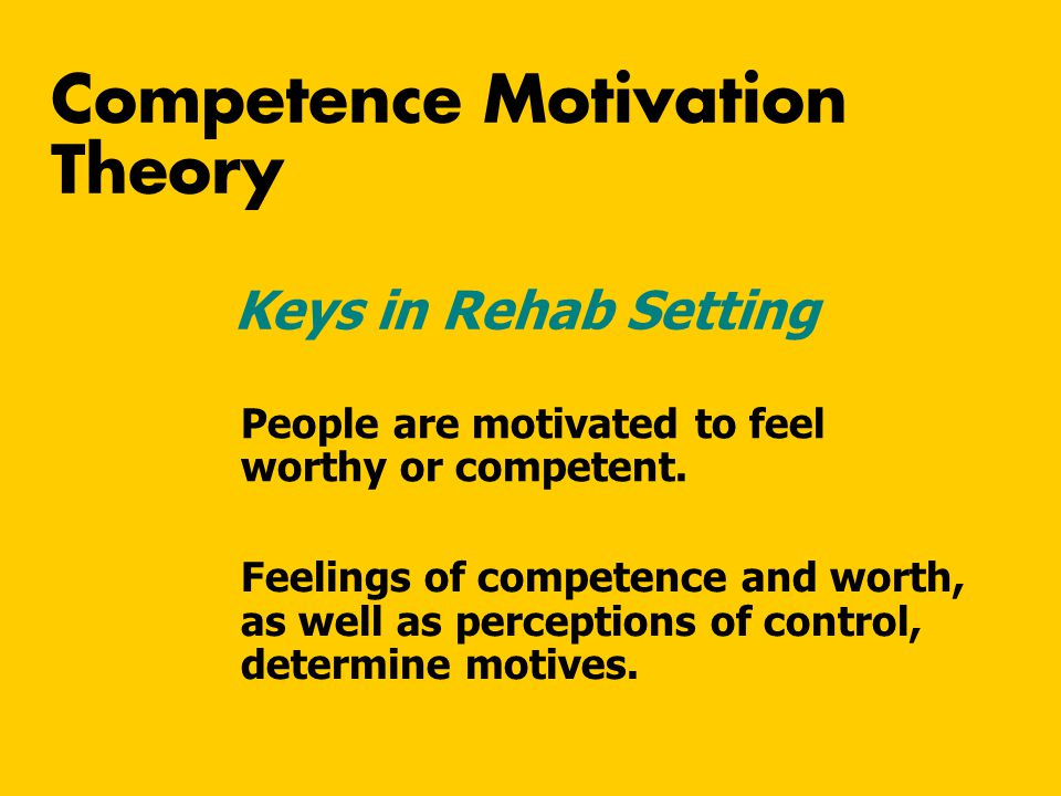 Competence Motivation Theory