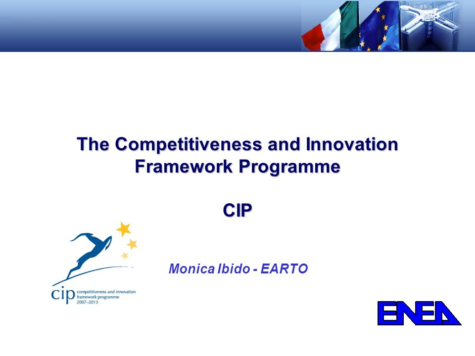 The Competitiveness and Innovation Framework Programme