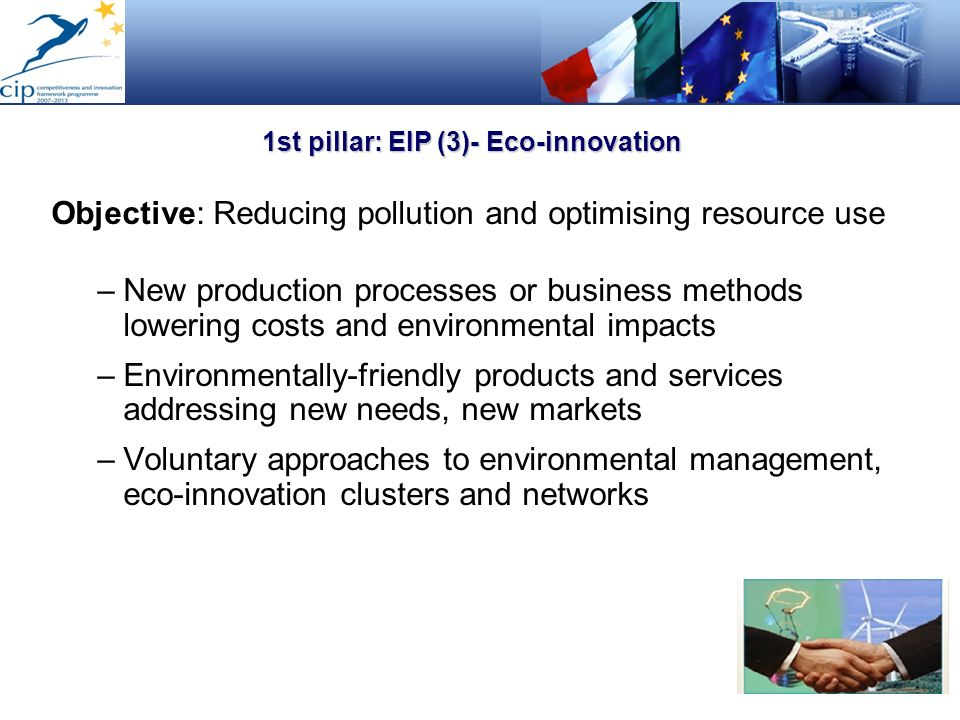 1st pillar: EIP (3)- Eco-innovation
