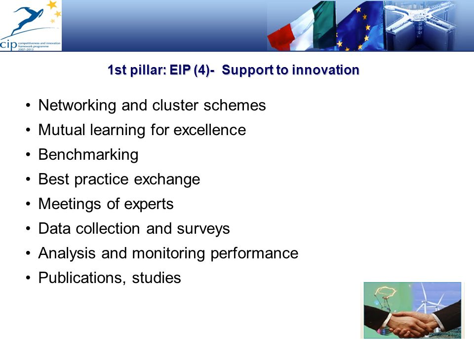 1st pillar: EIP (4)- Support to innovation