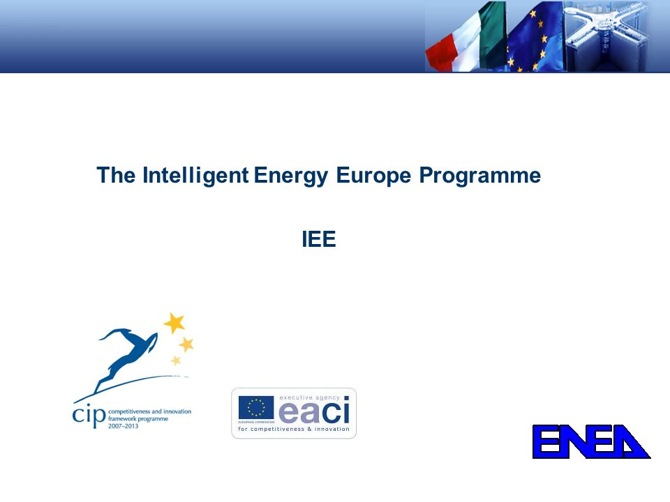 The Intelligent Energy Europe Programme