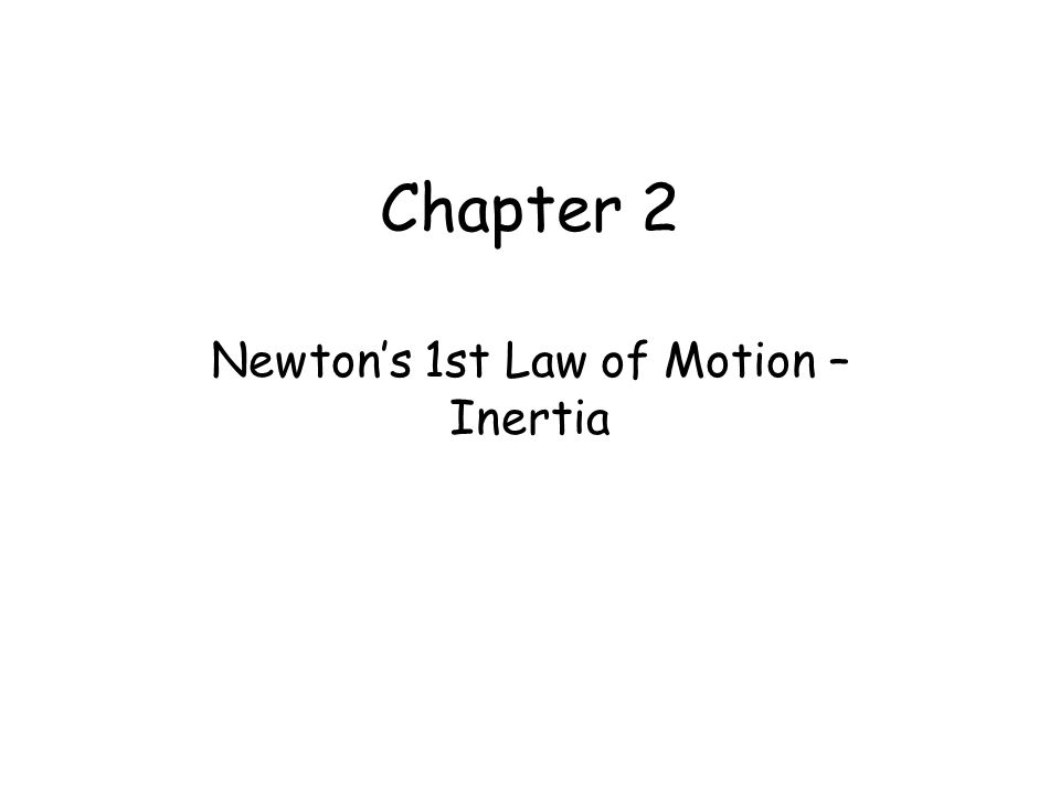 Newton's 1st Law of Motion – Inertia