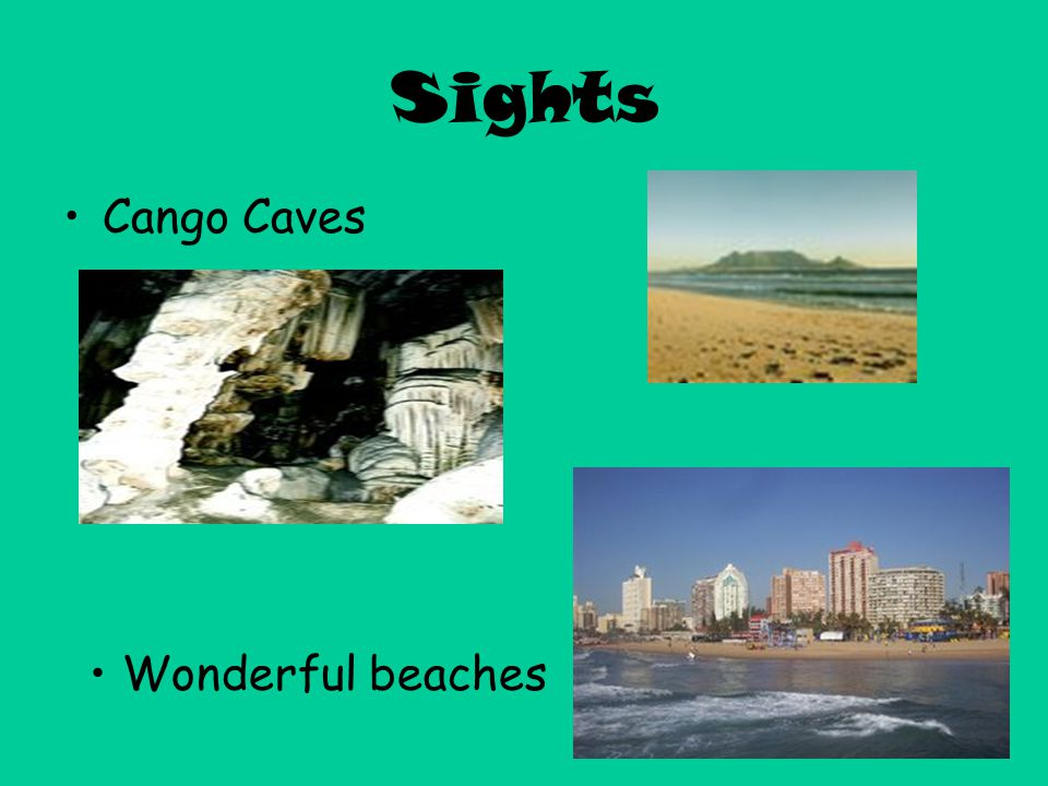Sights Cango Caves Wonderful beaches