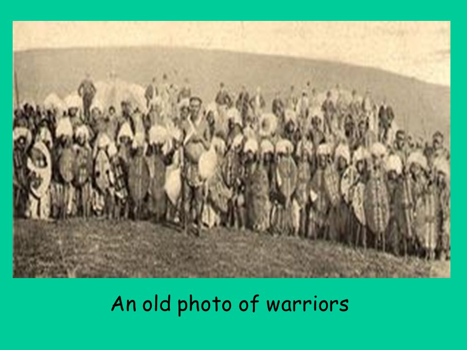 An old photo of warriors