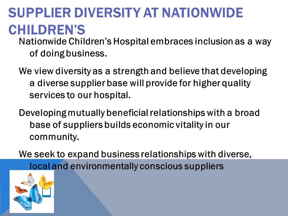 Supplier Diversity at Nationwide Children's