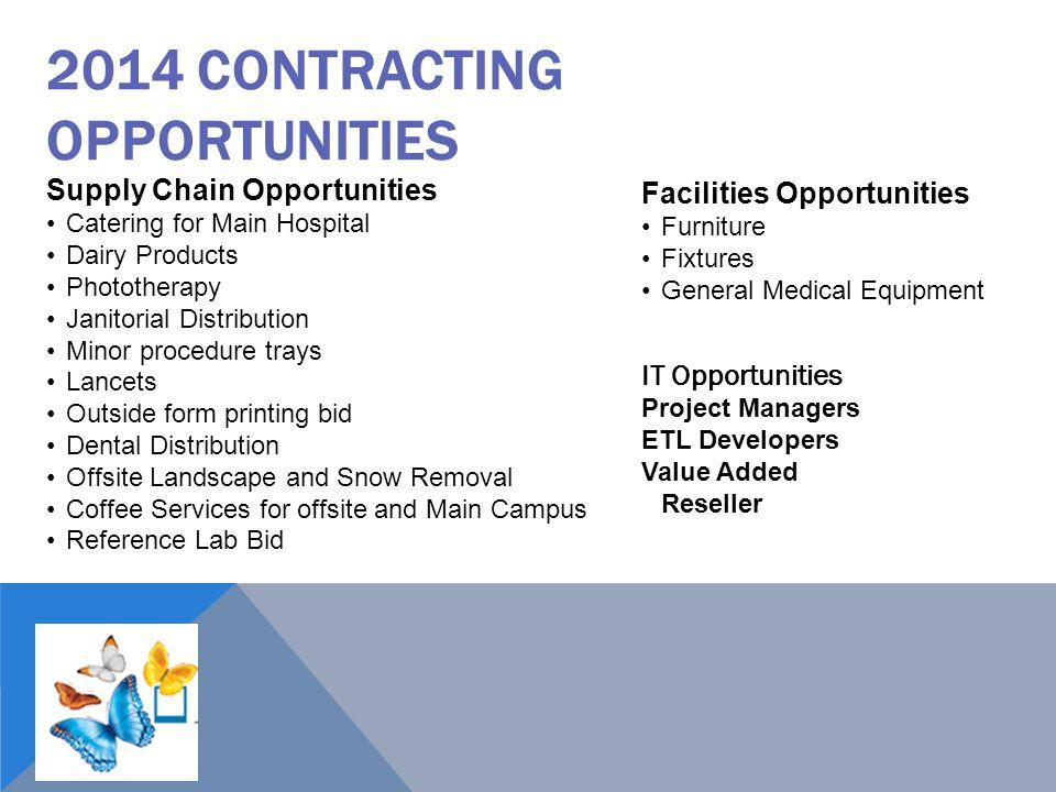 2014 Contracting Opportunities