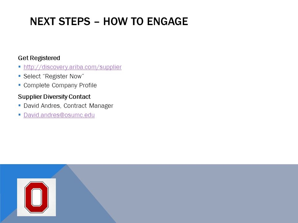 Next Steps – How to Engage