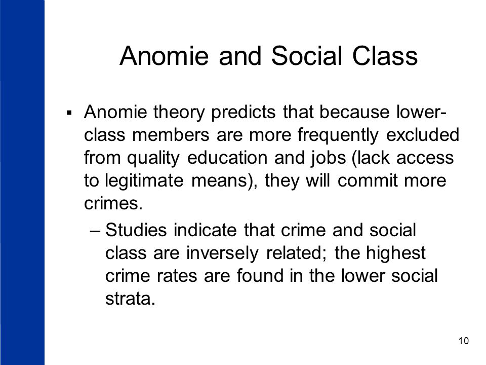Anomie and Social Class