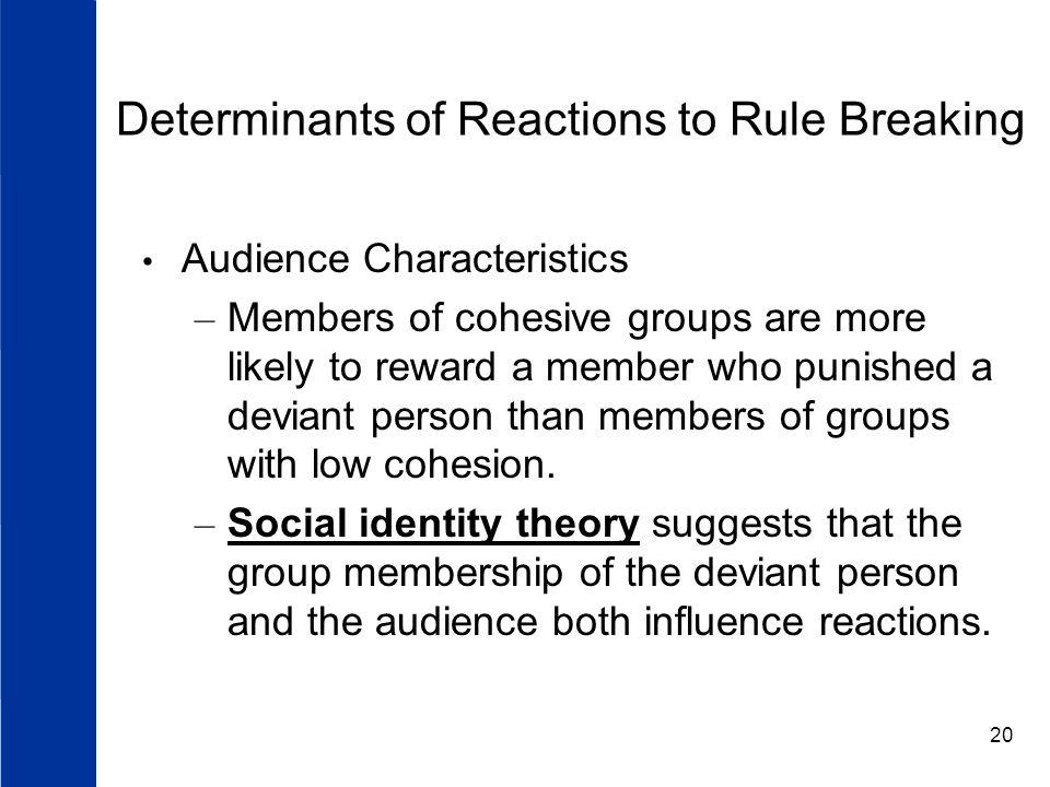 Determinants of Reactions to Rule Breaking