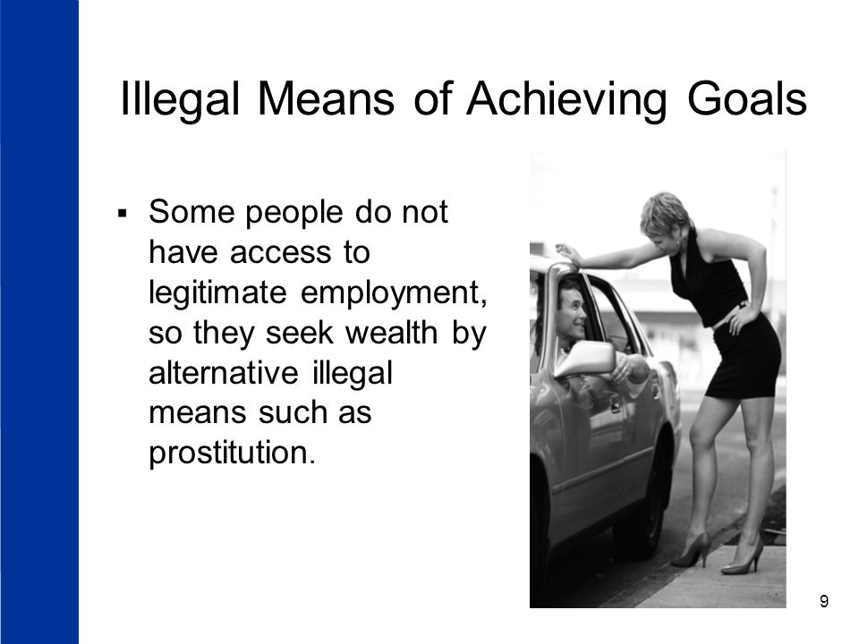 Illegal Means of Achieving Goals