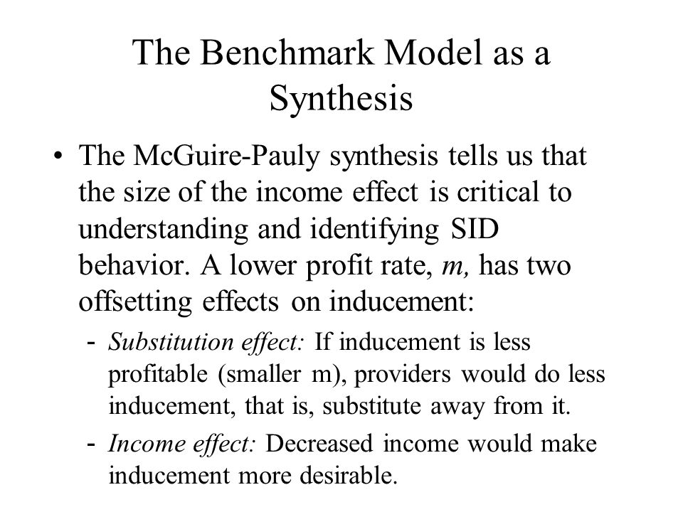 The Benchmark Model as a Synthesis