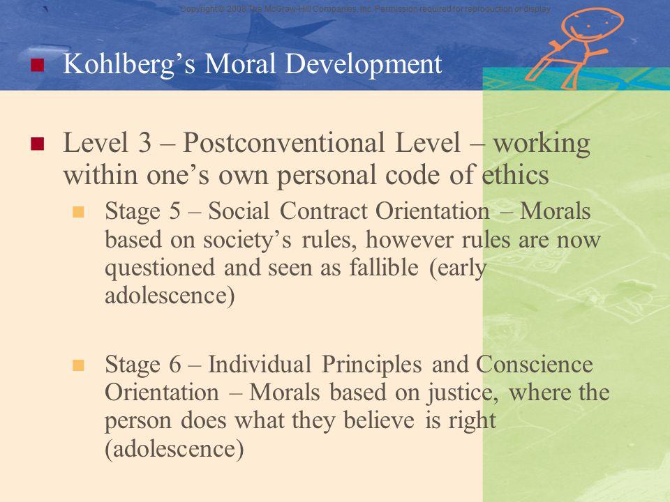 ` Kohlberg's Moral Development