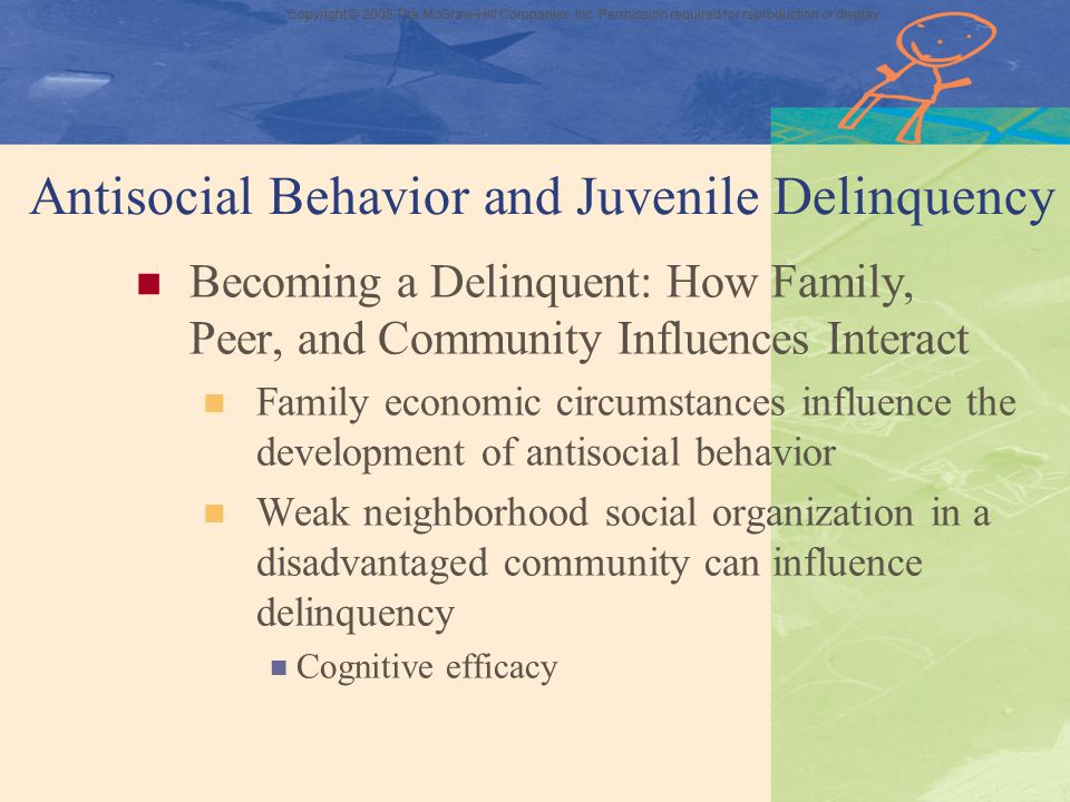 Antisocial Behavior and Juvenile Delinquency