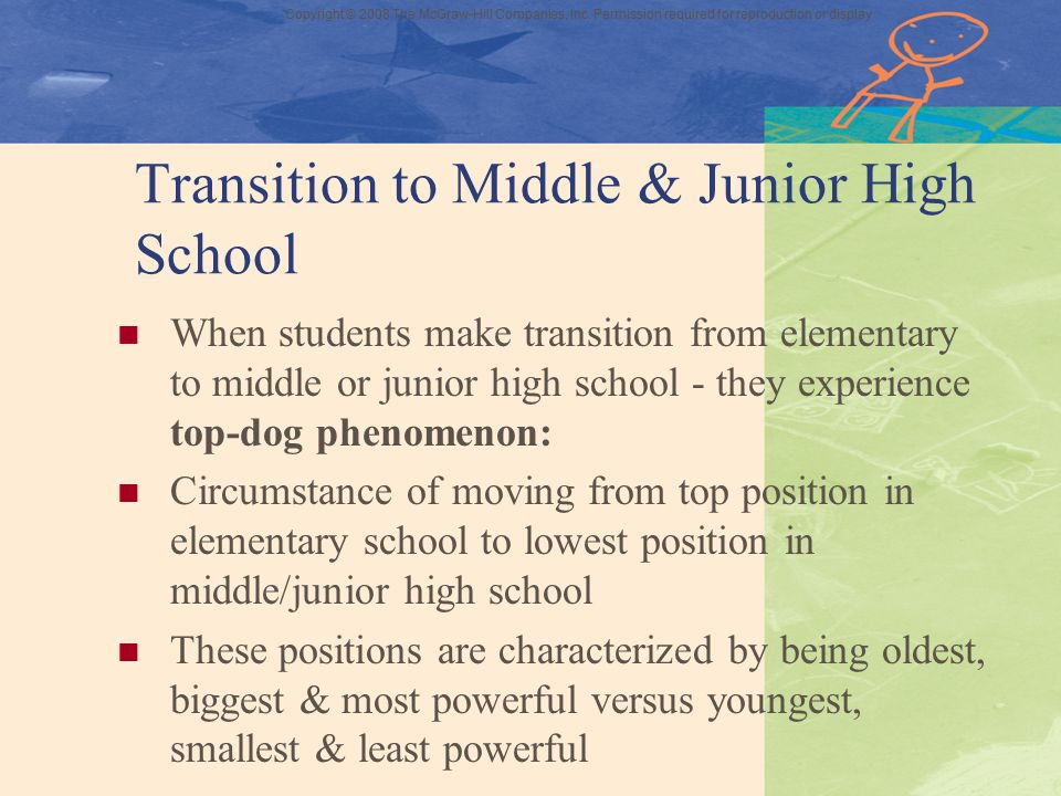 Transition to Middle & Junior High School