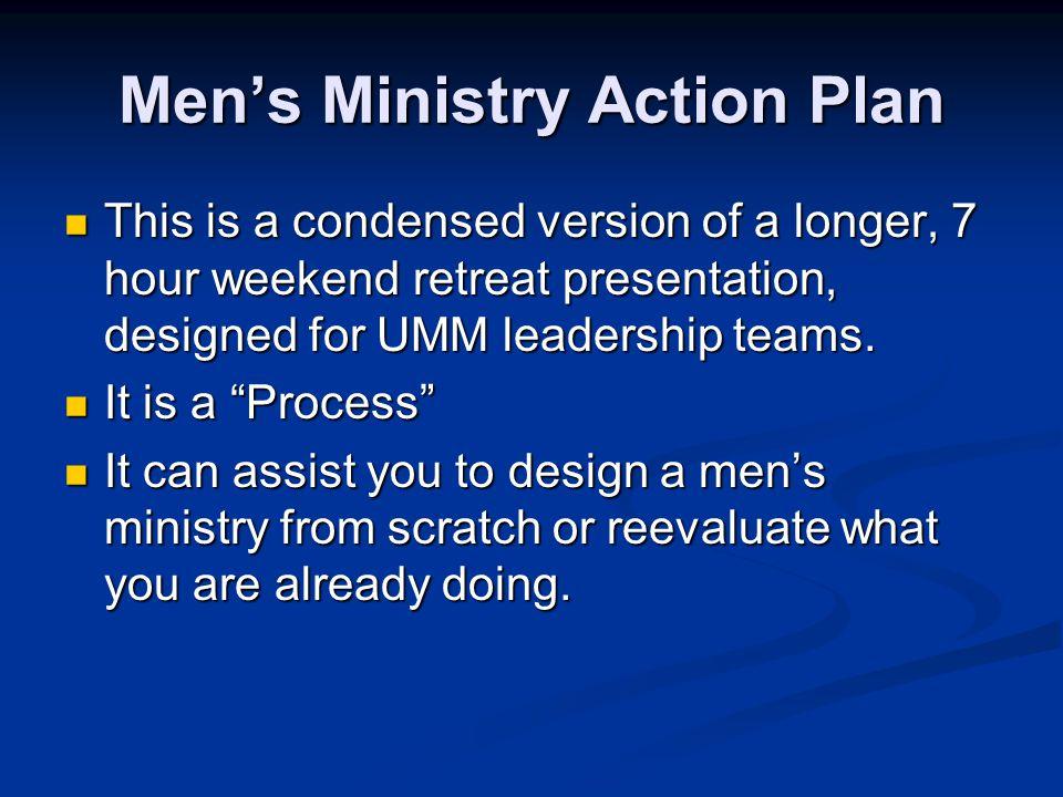 Men's Ministry Action Plan
