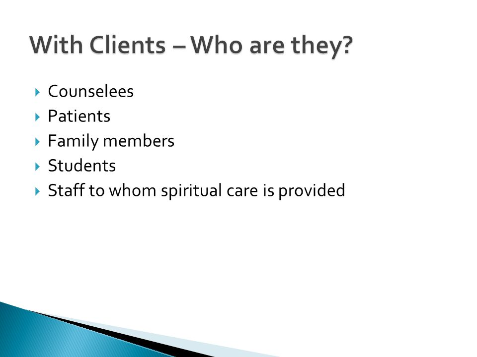 With Clients – Who are they