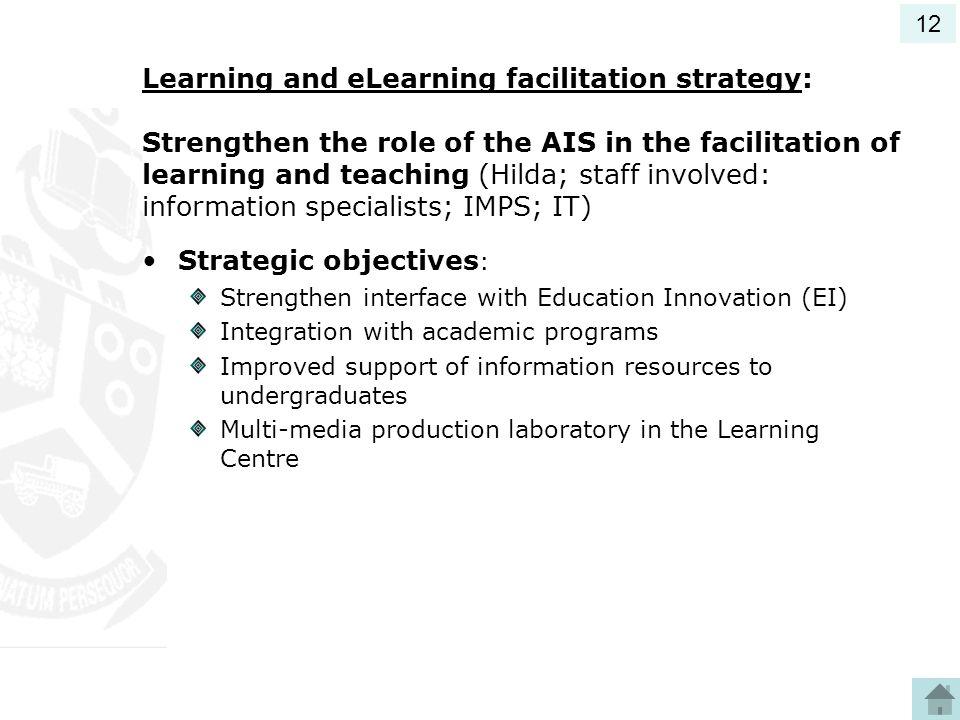 Strategic objectives: