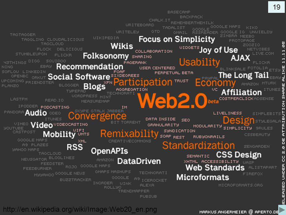 19 http://en.wikipedia.org/wiki/Image:Web20_en.png